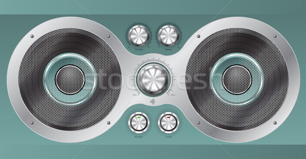 Speaker set and main controls  Stock photo © vipervxw
