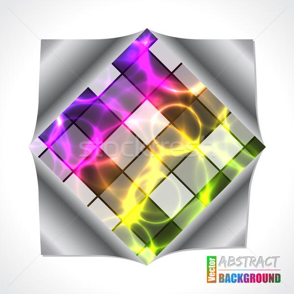 Serin plazma lazer broşür dizayn renk Stok fotoğraf © vipervxw