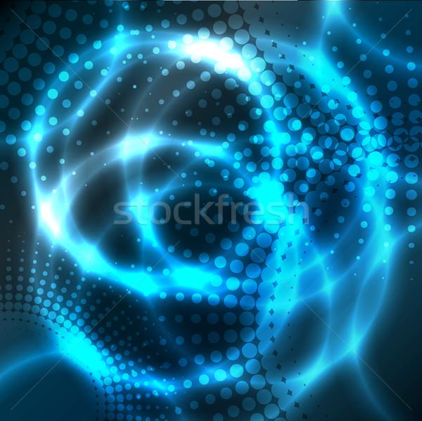 Soyut plazma dizayn uzay mavi enerji Stok fotoğraf © vipervxw