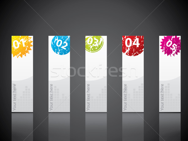 Stock photo: Sealed stationary design set