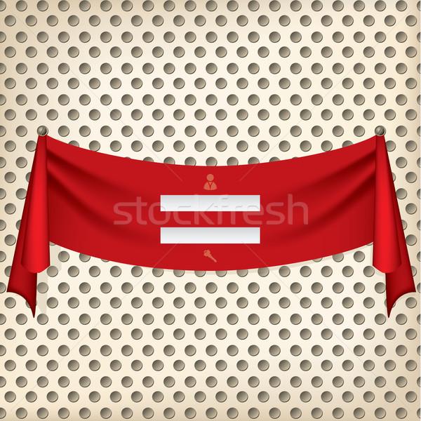 Ribbon login screen design Stock photo © vipervxw