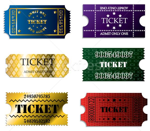 Various ticket set of six  Stock photo © vipervxw