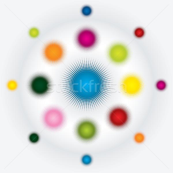 Abstract halftone dots  Stock photo © vipervxw