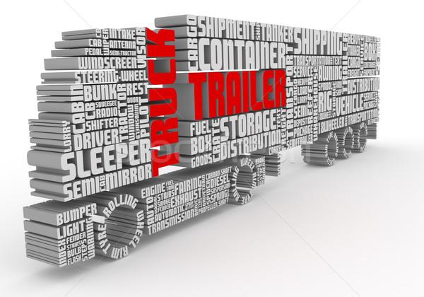 3D sözler kamyon görmek grup Stok fotoğraf © vipervxw