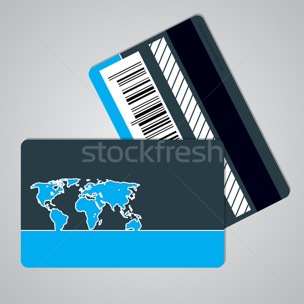 Loyalty card design with outlined map Stock photo © vipervxw