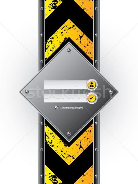 S'identifier écran industrielle grunge affaires Photo stock © vipervxw