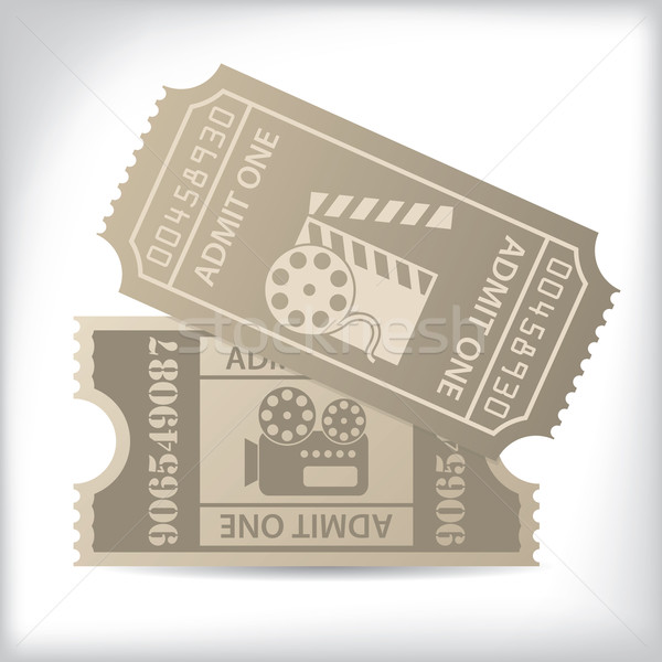 Cinema tickets with icons and text Stock photo © vipervxw