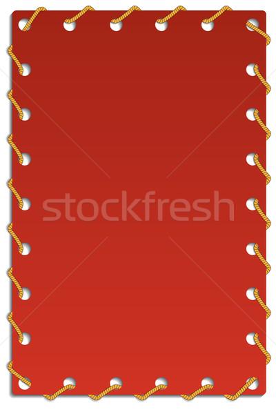 Roped card  Stock photo © vipervxw