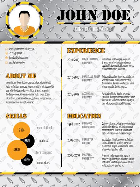 Cool industrial design curriculum vitae resume Stock photo © vipervxw
