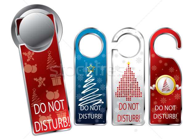 Christmas design privacy labels Stock photo © vipervxw
