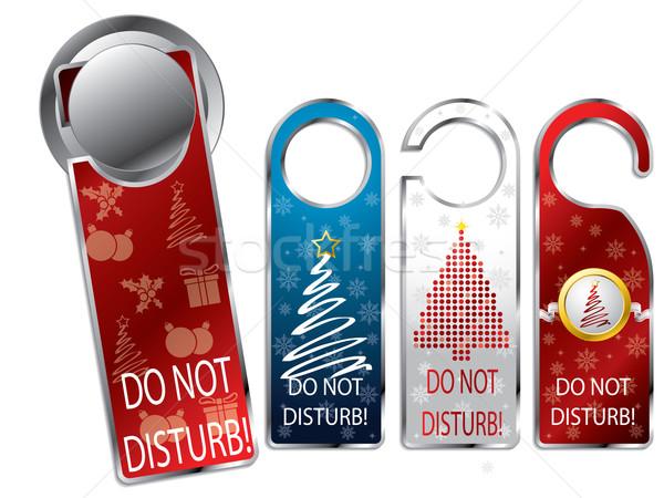 Karácsony terv magánélet címkék címke szett Stock fotó © vipervxw