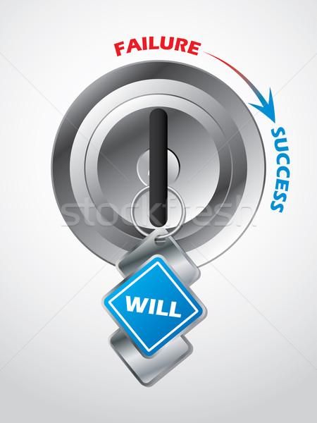 Accesso successo chiave business blu finanziare Foto d'archivio © vipervxw