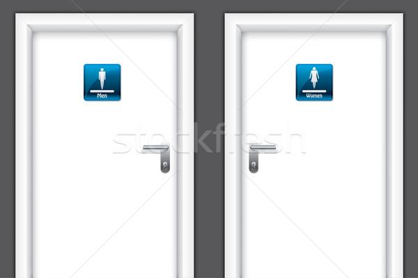 Doors with restroom symbols Stock photo © vipervxw