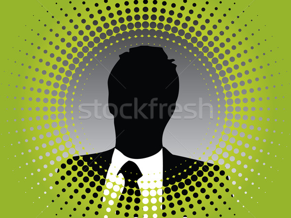 Photo in cool green halftone  Stock photo © vipervxw