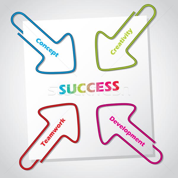 Financieros creatividad ilustrado flecha papel Foto stock © vipervxw
