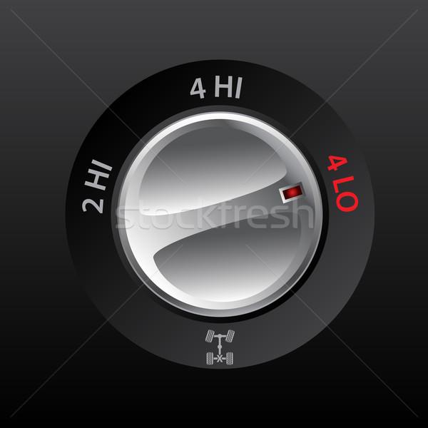 4x2 to 4x4 transmission knob Stock photo © vipervxw