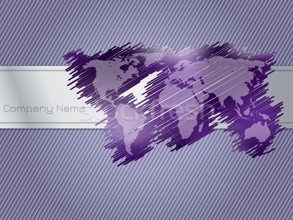 Striped and scribbled purple brochure design Stock photo © vipervxw