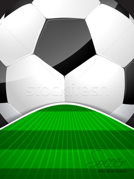 Résumé football brochure balle domaine modèle Photo stock © vipervxw