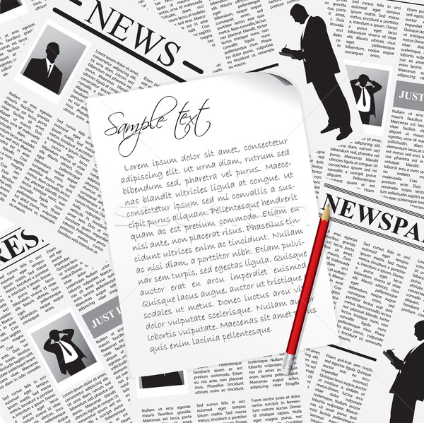 Notes taken from business newspapers Stock photo © vipervxw
