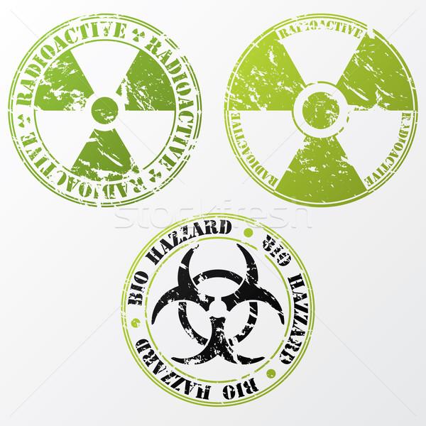 バイオ ハザード 放射性 スタンプ セット グランジ ストックフォト © vipervxw