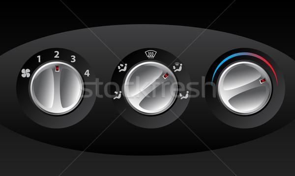 Retro analog temperatura kontroli zestaw trzy Zdjęcia stock © vipervxw