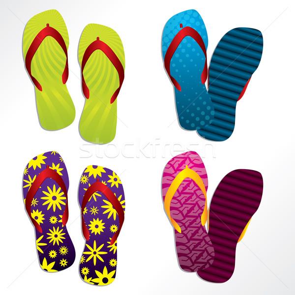 Various flip flop designs Stock photo © vipervxw