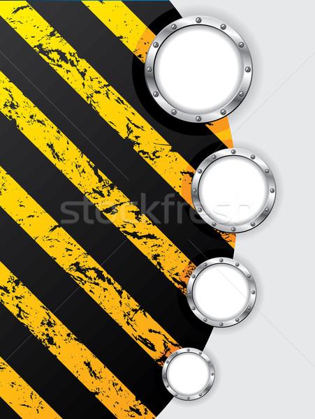 Absztrakt ipari terv fémes gyűrűk textúra Stock fotó © vipervxw