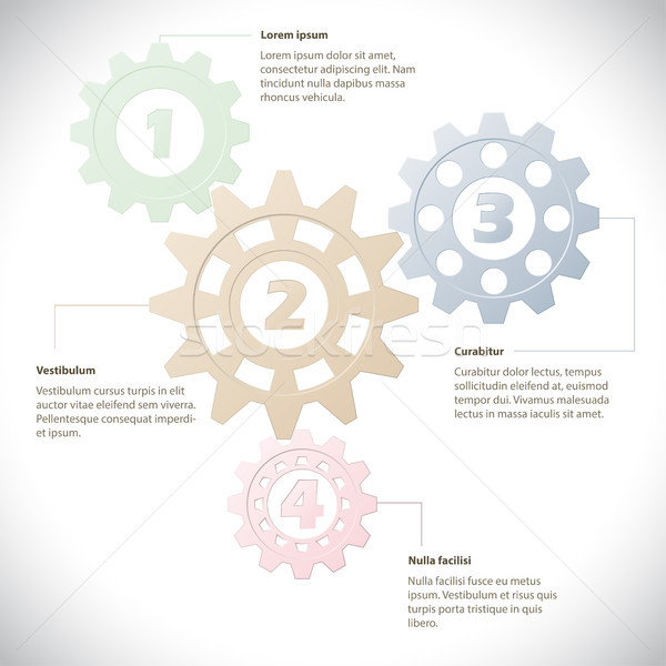 Infographic template with cogwheels Stock photo © vipervxw