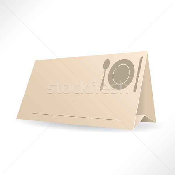 Obiedzie rezerwacja szablon karty przestrzeni gość Zdjęcia stock © vipervxw