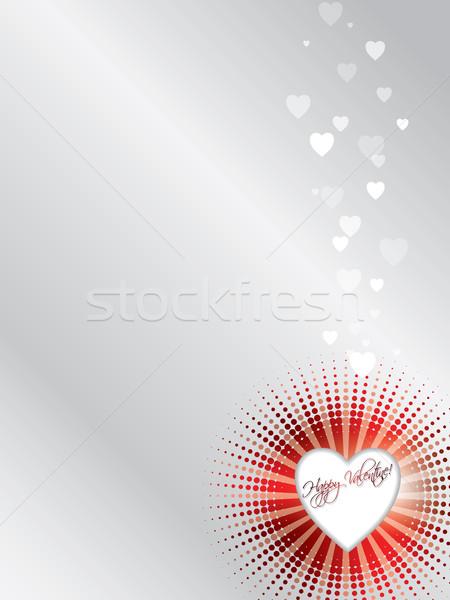 Halftoned valentine card  Stock photo © vipervxw