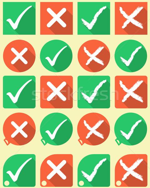 Cruz símbolos estilo botones Internet signo Foto stock © vipervxw