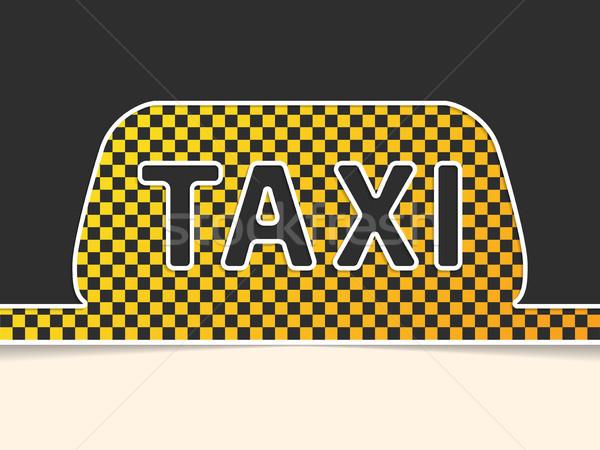 Checkered taxi symbol background design Stock photo © vipervxw