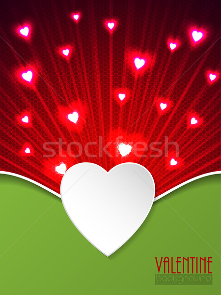 Valentine day greeting with bursting hearts Stock photo © vipervxw