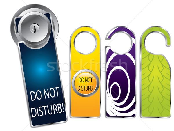 Don't disturb labels Stock photo © vipervxw