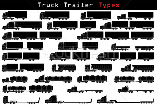 Truck trailer types  Stock photo © vipervxw