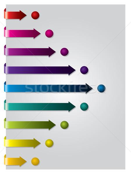 Arrows following dots  Stock photo © vipervxw