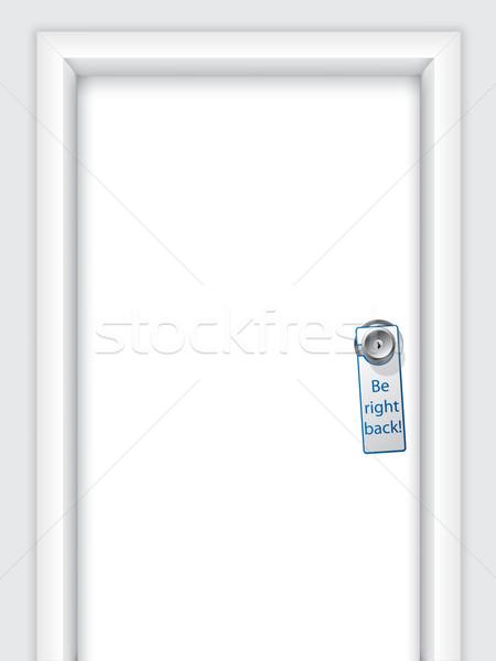Label with message on door knob  Stock photo © vipervxw