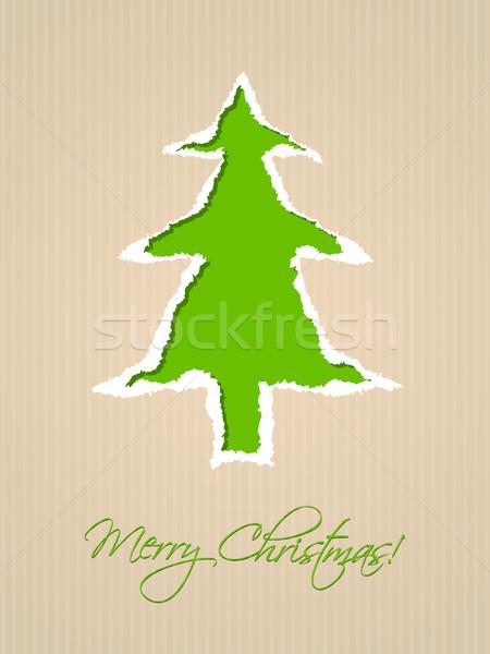 Stock fotó: Papír · karácsonyi · üdvözlet · terv · zöld · csíkos · előtér