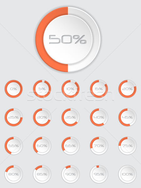 Stock photo: Cool 3d loader icon set