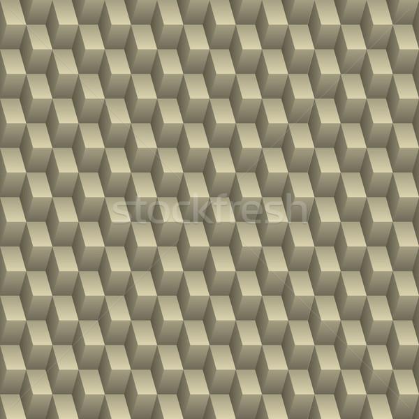 Resumen sin costura textura 3D efecto cuadrados Foto stock © vipervxw