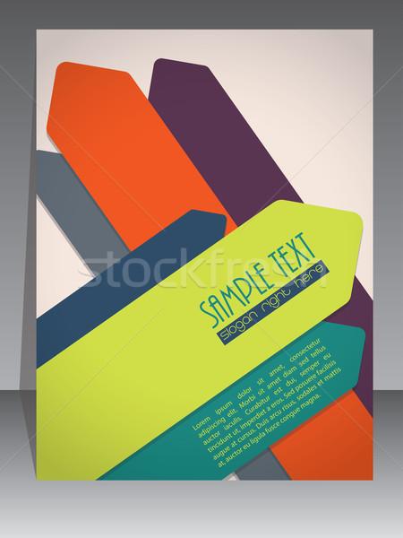 красочный брошюра дизайна стрелка Элементы темно Сток-фото © vipervxw