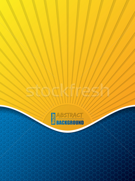 Hexagone modèle affaires brochure soleil silhouette Photo stock © vipervxw
