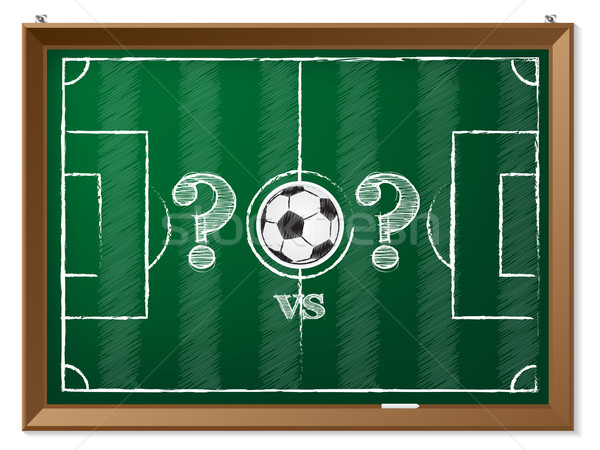 Soccer field with question mark vs question mark Stock photo © vipervxw