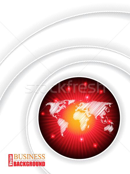 地図 パンフレット 世界地図 デザイン ビジネス 世界 ストックフォト © vipervxw