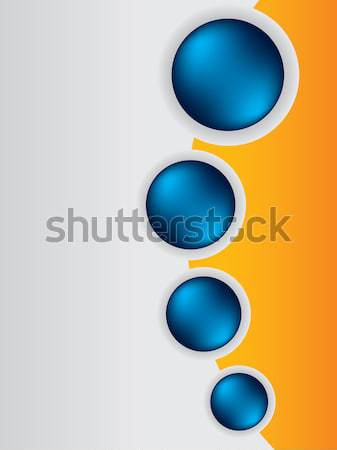 Cool brochure design background template with blue buttons Stock photo © vipervxw