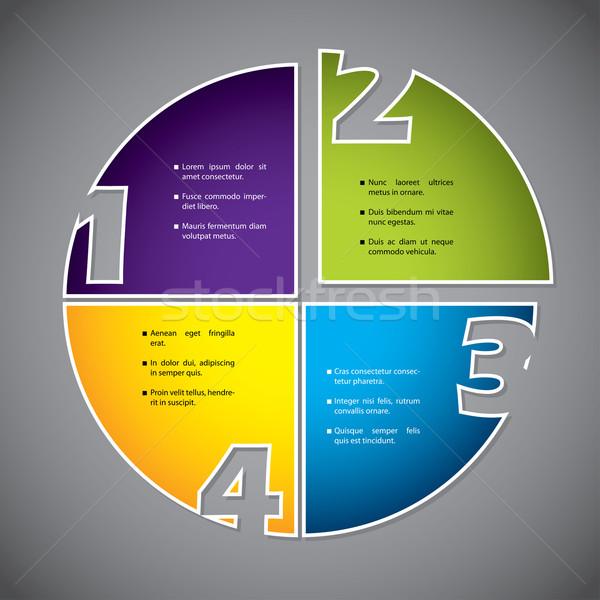 ストックフォト: カラフル · 図 · デザイン · 番号 · 番号