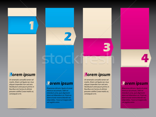 Simplistic advertising labels Stock photo © vipervxw