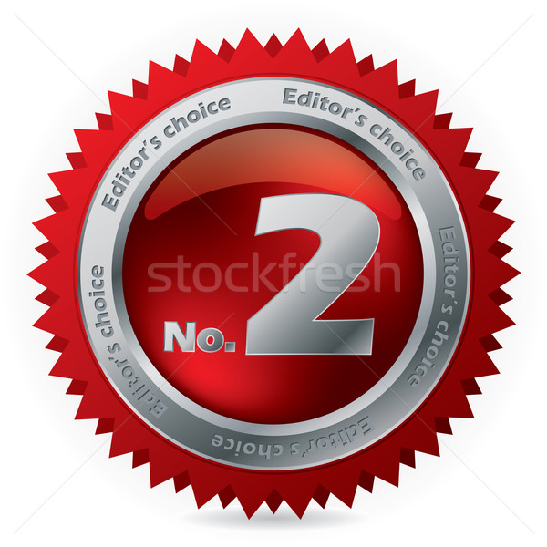2番目の 賞 バッジ 銀 リング 番号 ストックフォト © vipervxw