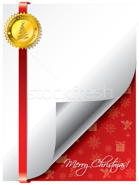 Sealed christmas greeting Stock photo © vipervxw