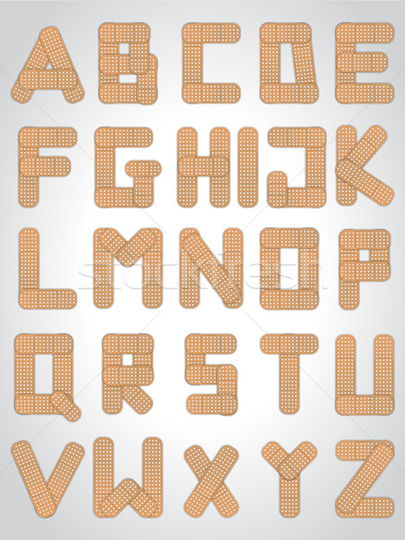 Abc letters made from medical plaster Stock photo © vipervxw